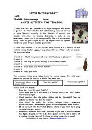 movie worksheet the terminal