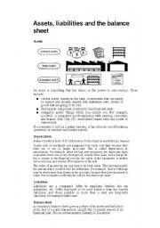 English Worksheet: Balance Sheet