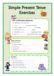 English Exercises Practice Simple Present Tense