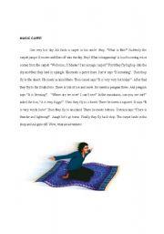 English Worksheets: flying carpet