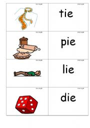 English Worksheets: word /picture cards that contains �ie� phonics