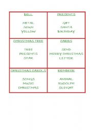 English Worksheet: xmas tabu