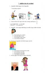 English Worksheet: sbs questions for the 7th classes