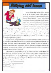 Anti-bully questionnaire. | 5th grade | Pinterest | Anti bullying ...