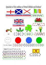 English Worksheet: Symbols of Great Britain and Ireland