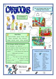English Worksheet: Cartoons