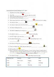 How the Grinch Stole Christmas-- beginner worksheet