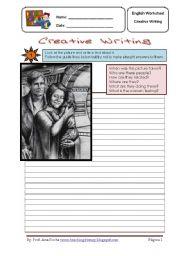 English Worksheet: Creative writing