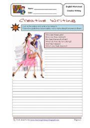 English Worksheets: Creative Writing 2