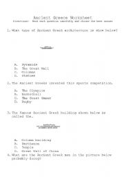 English Worksheet: Ancient Greece