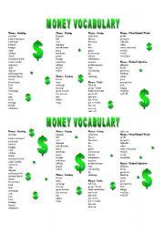 MONEY VOCABULARY - worksheet by Mellih1986