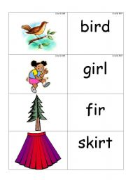 Worksheets Ir Words Phonics word picture cards containing phonics