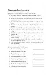 English Worksheets: Superlatives_worksheet
