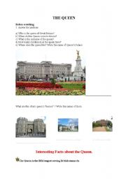 English Worksheets: The Queen