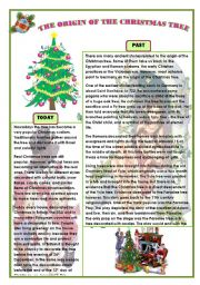 English teaching worksheets: Christmas tree