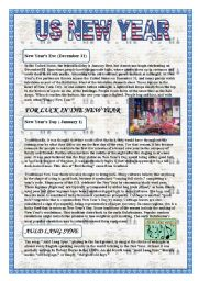 English Worksheet: US New Year
