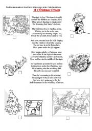 English Worksheet: A Christmas Dream - a poem :)