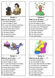 English Worksheets: What do you do when...