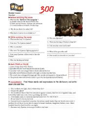 English Worksheets: 300 MOvie