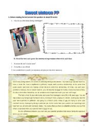 English Worksheet: Worsheet- teenagers (3 pages)