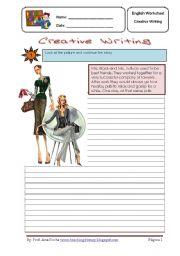 English Worksheet: creative writing 3