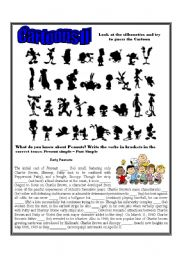 English Worksheet: Cartoons II