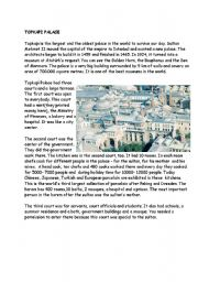English Worksheets: Topkapi Palace