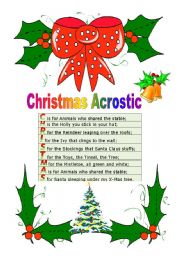 worksheet: Christmas Acrostic