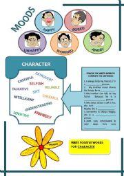 English Worksheet: DESCRIBING PEOPLE - MOOD AND CHARACTER