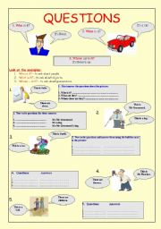 English Worksheet: Questions and answers