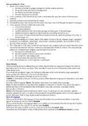 English Worksheets: Simplified plan of Text Interpretation