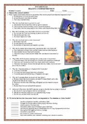 English Worksheet: POCAHONTAS 2
