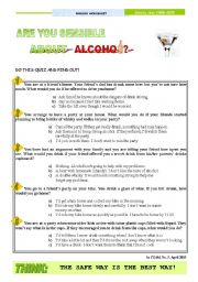 Are you sensible about alcohol?  - Quiz as a pre-reading activity for the text American Teens and alcohol