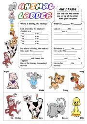 English Worksheets: Animal Ladder