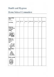Worksheet School Home Connection Worksheets english worksheet healthy habits checklist this is a home school connection