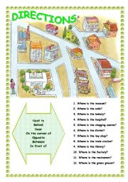 English Worksheets: DIRECTONS