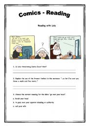 English Worksheets: Comics - Reading Activity 8 (2 pages)
