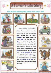 English Worksheet: A Picture Story  : A Farmer�s Story