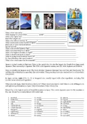 English Worksheet: Japan - story & questions