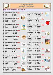 English Worksheets: Irregular verbs, Participle form