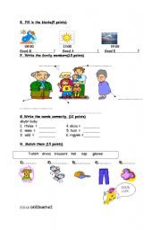 English Worksheets: worksheet for kids 2