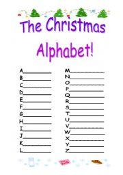 Christmas Alphabet Worksheets | New Calendar Template Site
