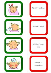 English Worksheet: Memory card game / What´s the matter? (1/3)