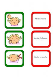 English Worksheet: Memory card game / What´s the matter? (3/3)