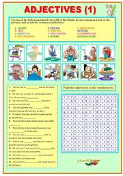 English Worksheets: ADJECTIVES (1)