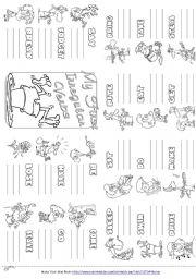 English Worksheet: My First Irregular Verbs Mini Book