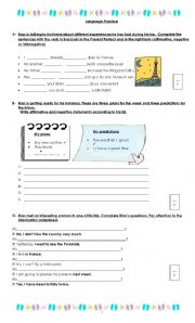 English Worksheet: Present Perfect, Future and mixed tenses