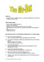 English Worksheets: Me-Box