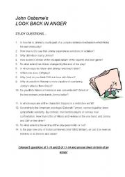 English Worksheets: Look Back in Anger