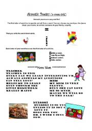 english worksheets acrostic poetry time a fun easy poetry form with explanation. Black Bedroom Furniture Sets. Home Design Ideas